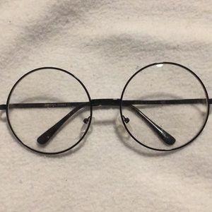 NWOT Cute large circle frame glasses